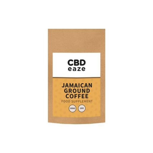 CBDeaze 100mg CBD Jamaican Ground Coffee - 100g-Vape Cloud UK