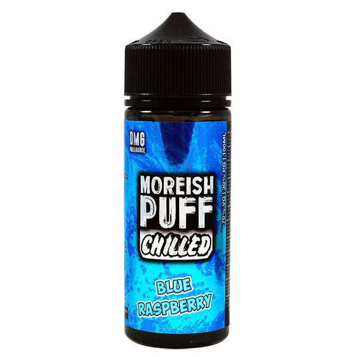 Moreish Puff - 100ml - Chilled Blue Raspberry-Eliquid 100ml +-Vape Cloud UK