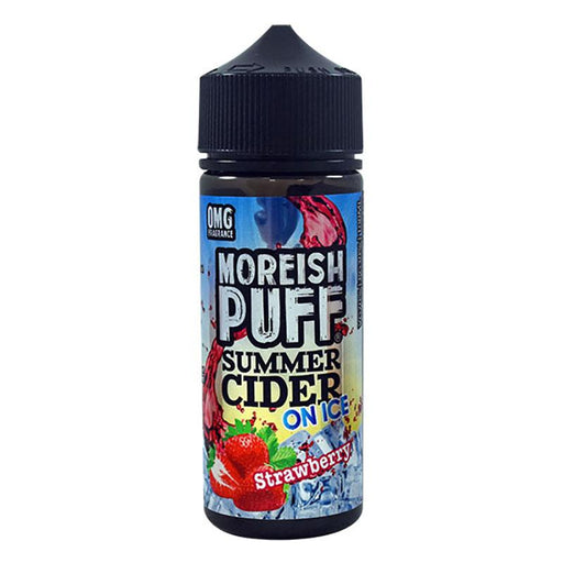 Moreish Puff Summer Cider on Ice - 100ml - Strawberry-Eliquid 100ml +-Vape Cloud UK