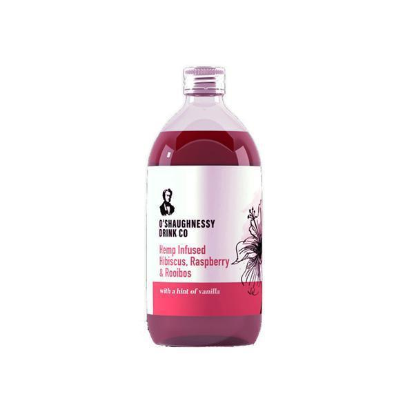 O'Shaughnessy Hemp Infused Hibiscus, Raspberry & Rooibos 500ml CBD Cordial-CBD Products-Vape Cloud UK