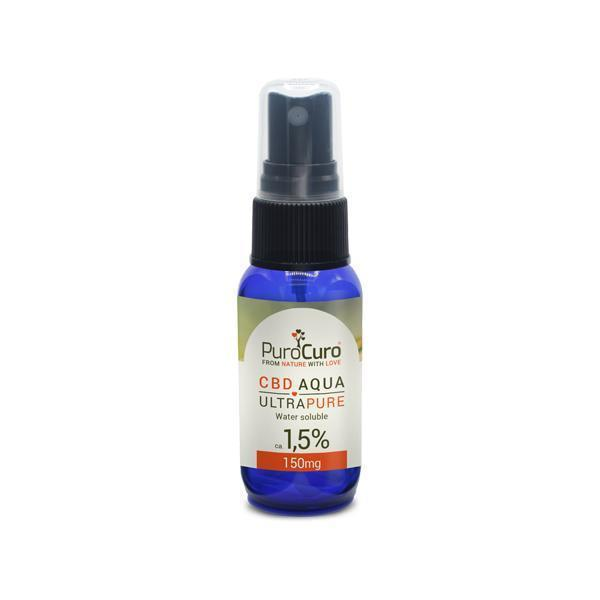 PuroCuro 1.5% Ultra Pure CBD Aqua 150mg-Vape Cloud UK