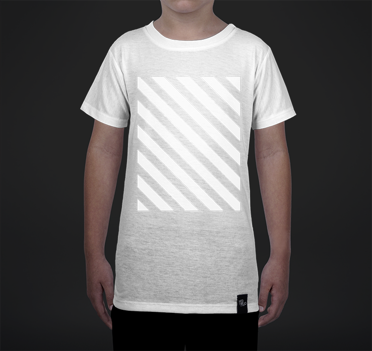 Youth Crew Tee, Striped Overlay