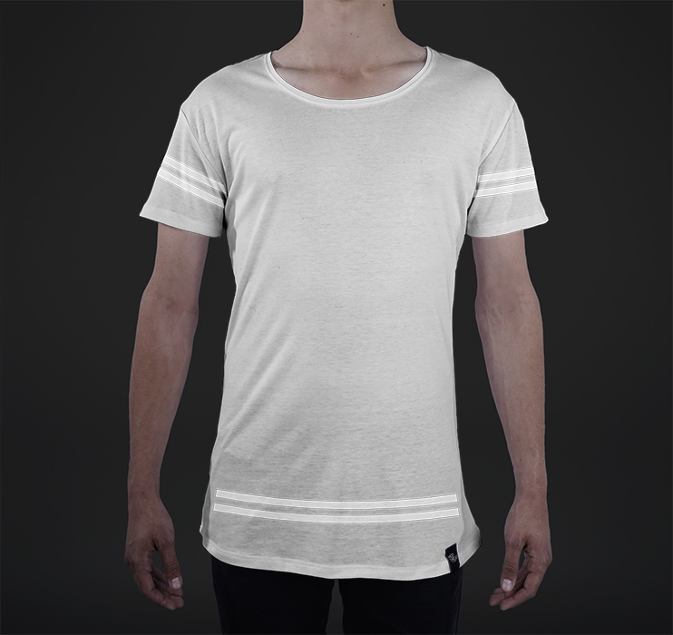 Mens Modern Tee, Athletic Overlay