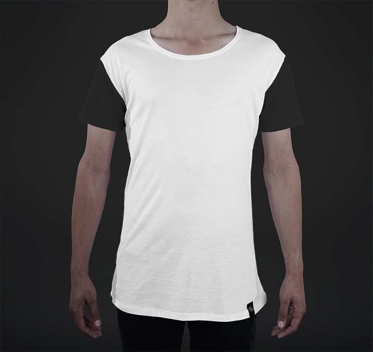 Mens Modern Tee, Color-blocked