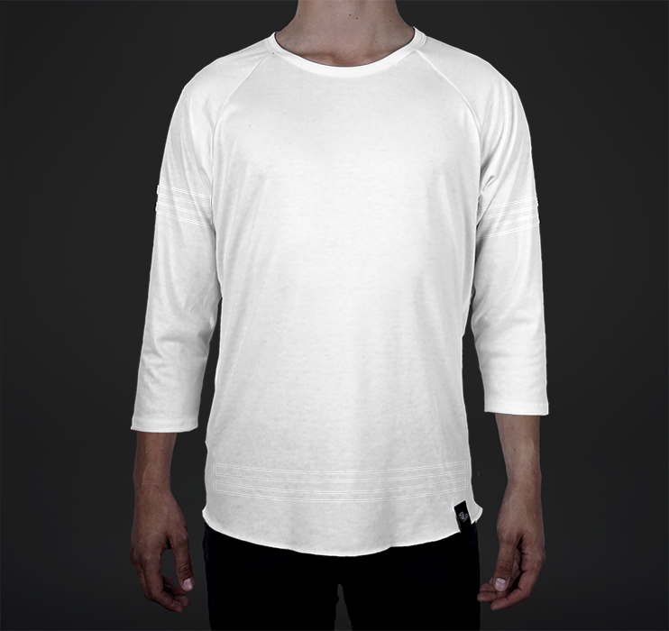 Mens Raglan, Athletic Overlay