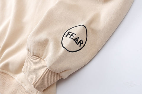 Fear tone hoodie embroidered wrist patch