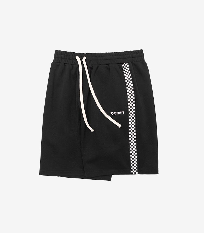 Checks Sweat Shorts - Black - Modern Appeal