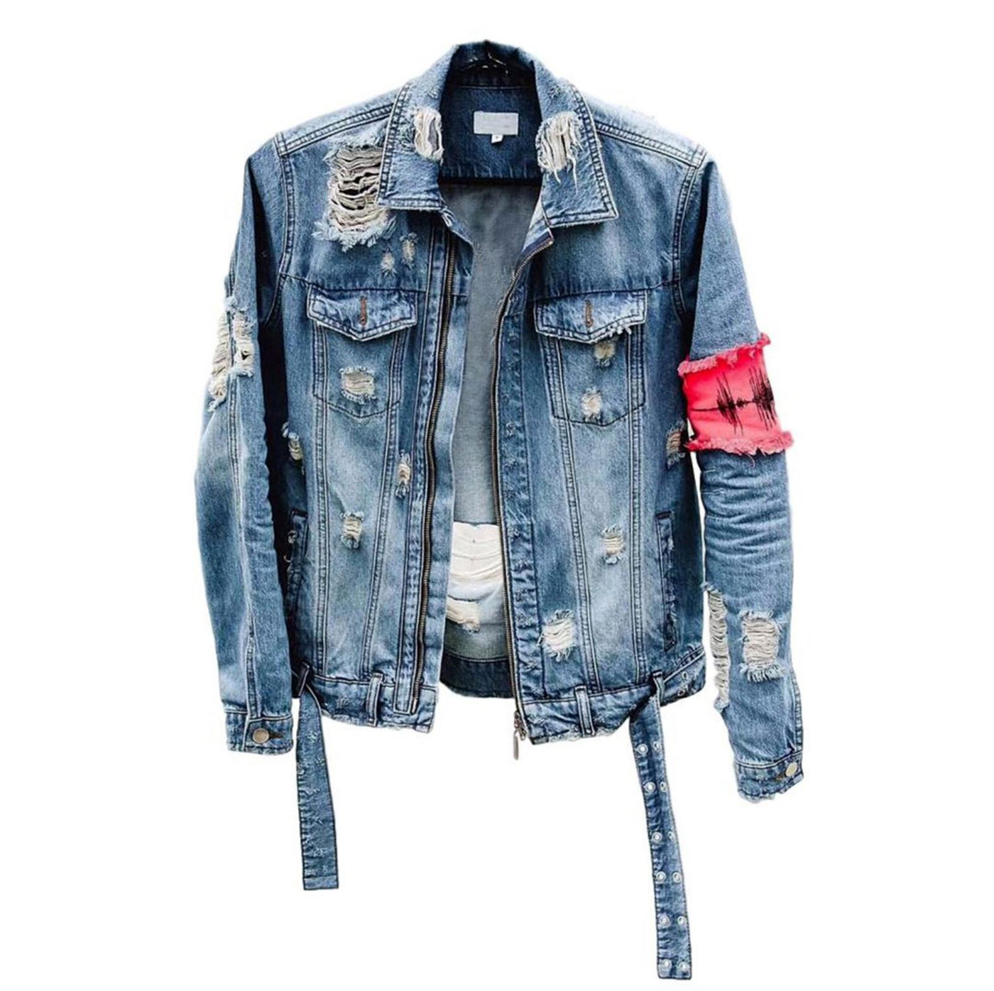 Diesel Tattered Denim Jacket [Designer] - Modern Appeal