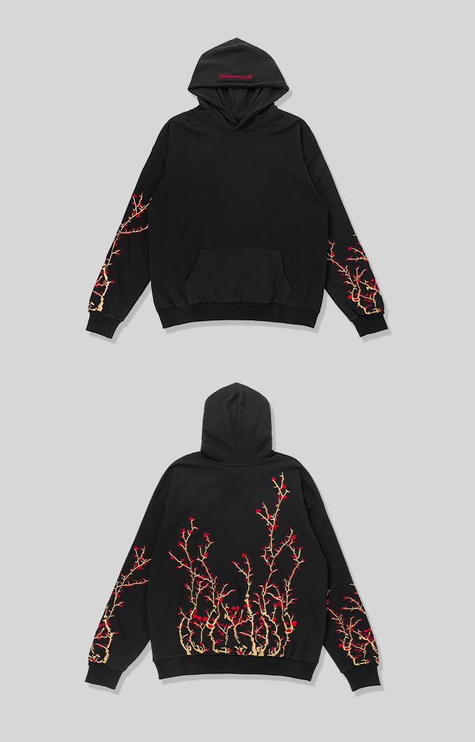 Chinese Floral Embroidered Hoodie (LIMITED) - Modern Appeal