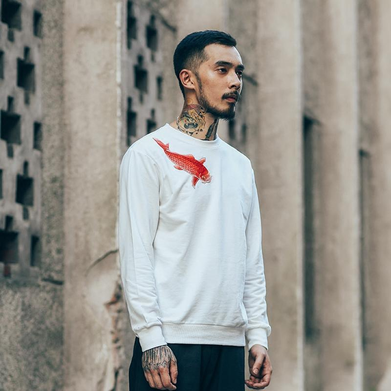 Hoodies & Sweatshirts - Ying Embroidered Crewneck - White