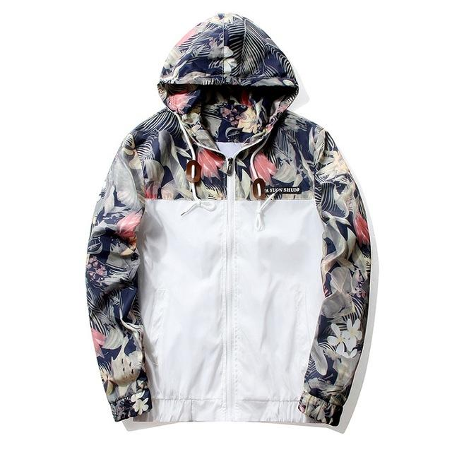 Jacket - Vice Floral Windbreaker - White