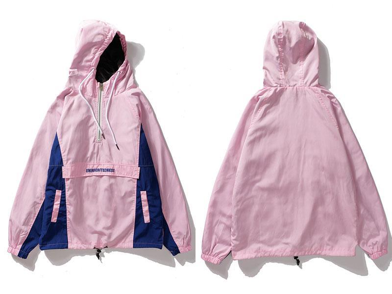 Jackets - Uninhibited Pullover Jacket - Pink