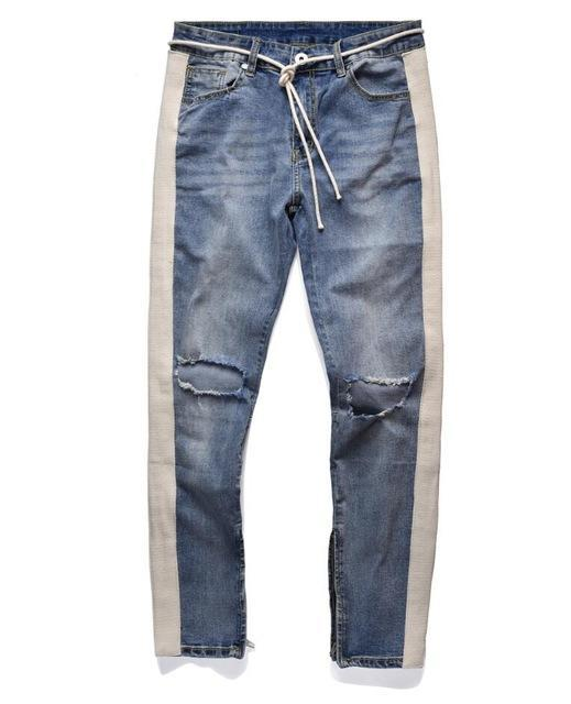 Modern Side Stripe Denim - Light Wash - Modern Appeal