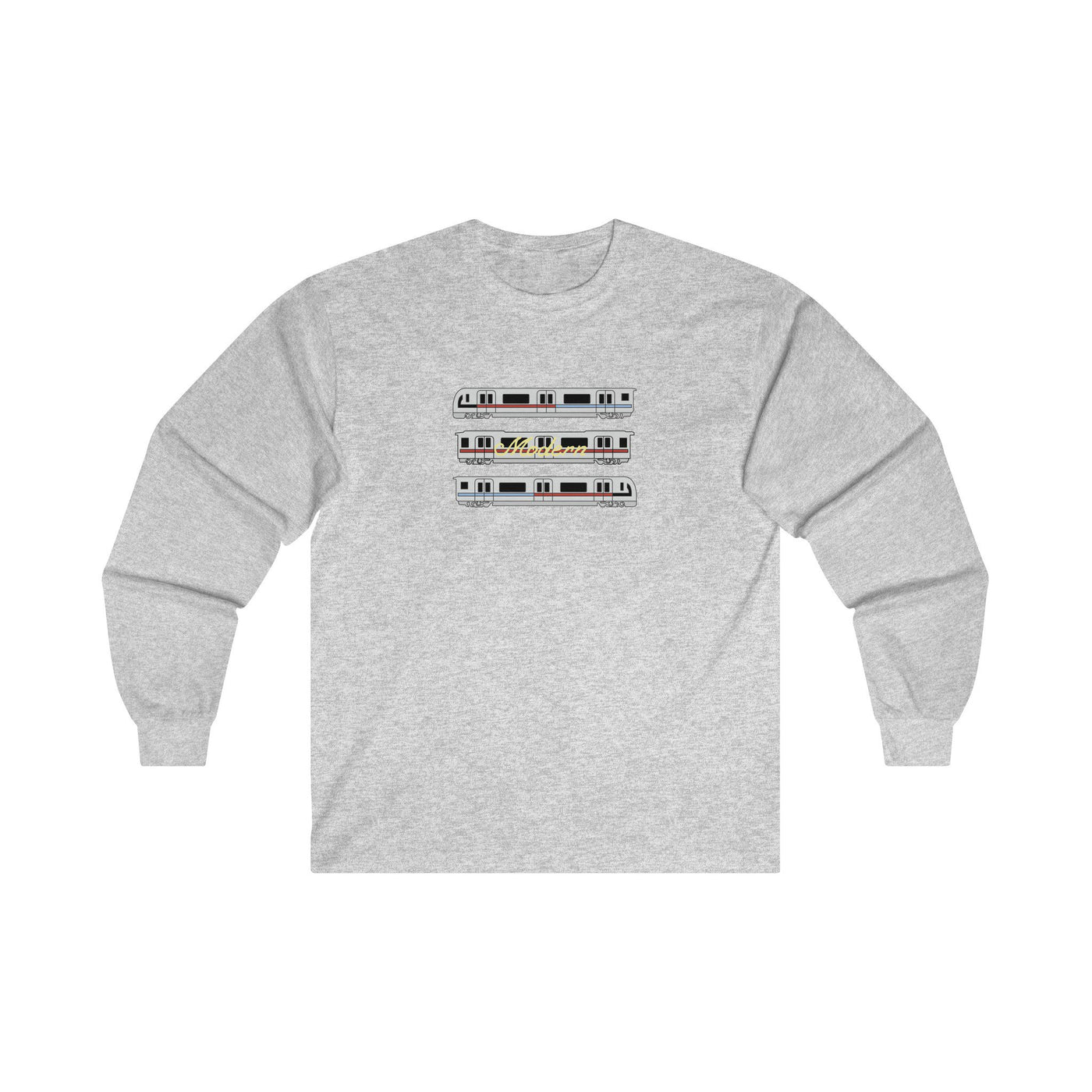 Long-sleeve - Planes & Trains Longsleeve - Ash Grey