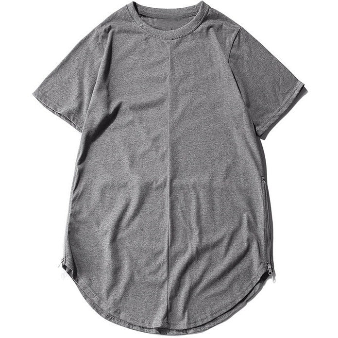 Layered Extended Tee - Heather Grey - Modern Appeal