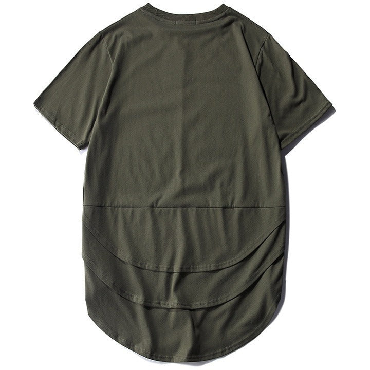 Layered Extended Tee - Sage Green - Modern Appeal