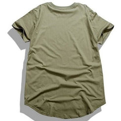 T Shirt - Ripped Extended Tee - Olive