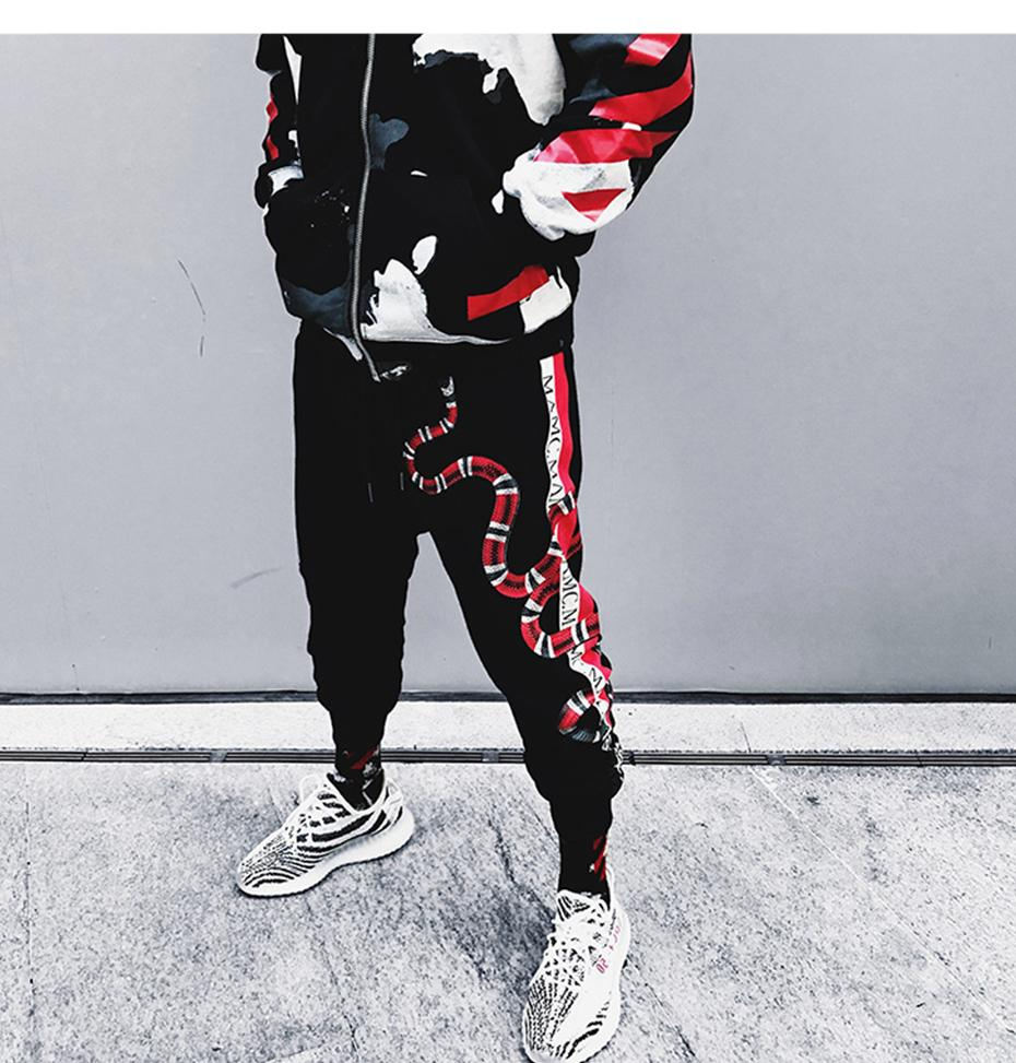 Venom Joggers - Red & Black