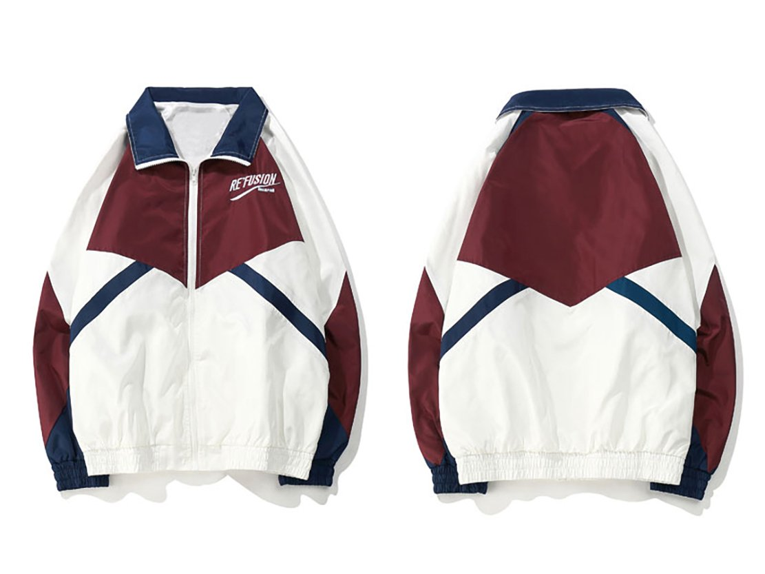Windbreaker - Vintage Track Jacket  - White