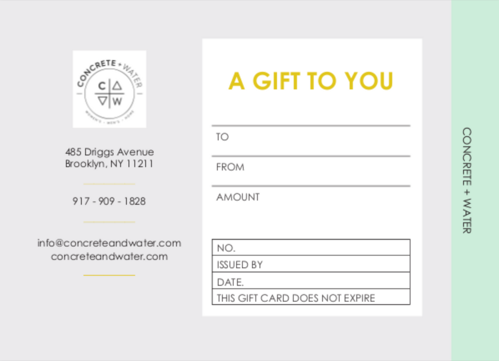 C+W Gift Certificate