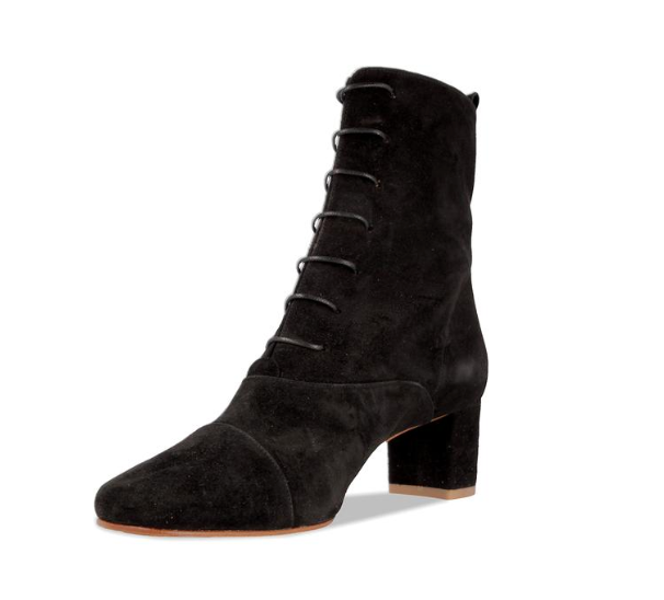 BY Far Lada Black Suede Boot