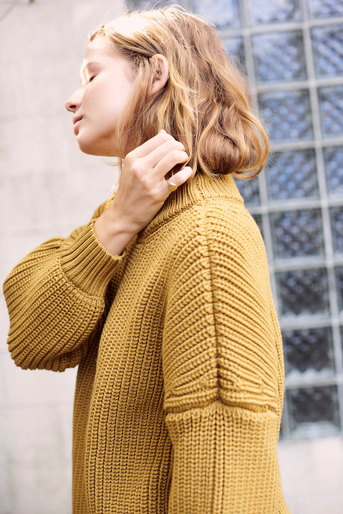 Notched Hem Sweater