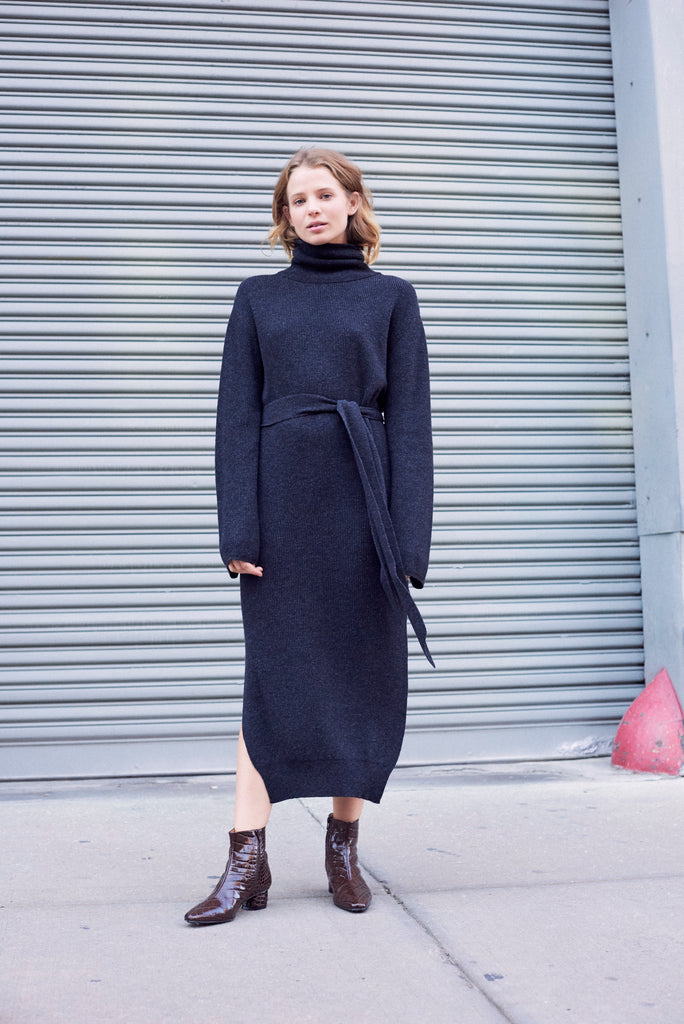 Cannan Turtleneck Knit Dress