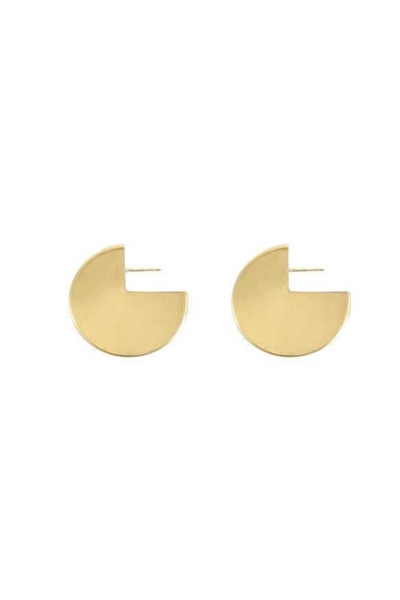 Circle Earrings in Gold Plate