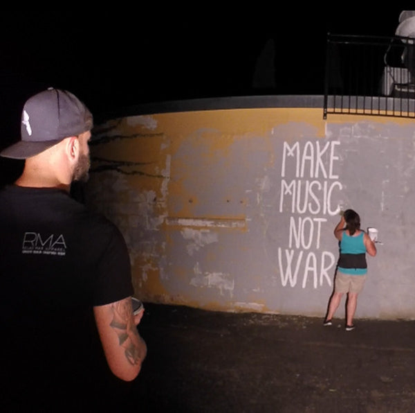 Make Music Not War - Art Mural (Video)