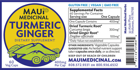 Turmeric Ginger Capsules For Digestion
