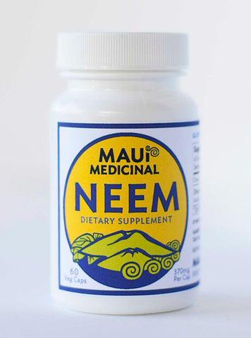 Neem 60 - 370 mg V-Caps ( Organically Grown Maui USA )