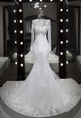 Long Sleeves Wedding Dress-AMIE