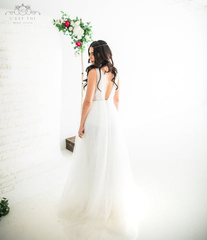A-Line Wedding Dress-BOHO