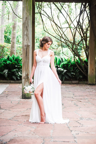 Keyhole Wedding Dress-BOHO
