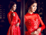 Red Ao Dai-EMELYN
