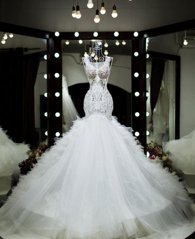 Mermaid Wedding Dress-HELENE
