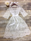 Chantilly Lace Wedding Robe - R01
