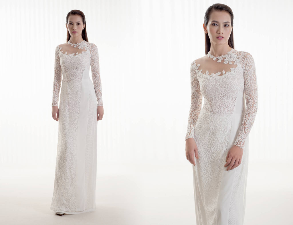 White Ao Dai-JULIE