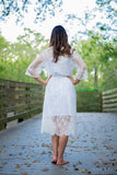 Bridal Floral Chantilly Lace Robe-R04