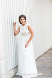 Peplum Lace Wedding Dress-BOHO