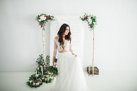 TWO-PIECE WEDDING DRESS - BOHEMIAN
