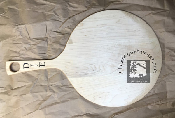 Pizza peel paddle Maple. 22 1/2 long, 14 across, 8 handle, 7/16 thick (inches).
