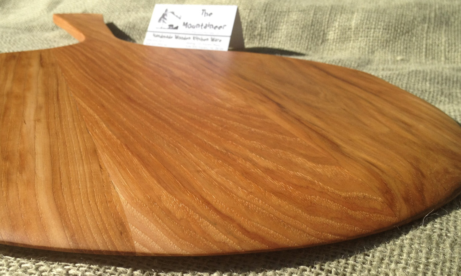 Pizza peel paddle BLACK WALNUT. 22 1/2 long, 14 across, 8 handle, 7/16 thick (inches).