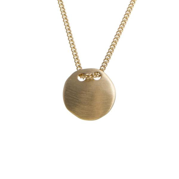 Alexa Tag Necklace Gold