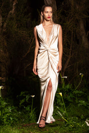 Monroe Maxi Dress Mother of Pearl
