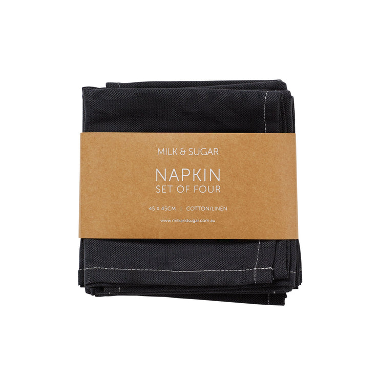 Napkins Set of 4 Charcoal