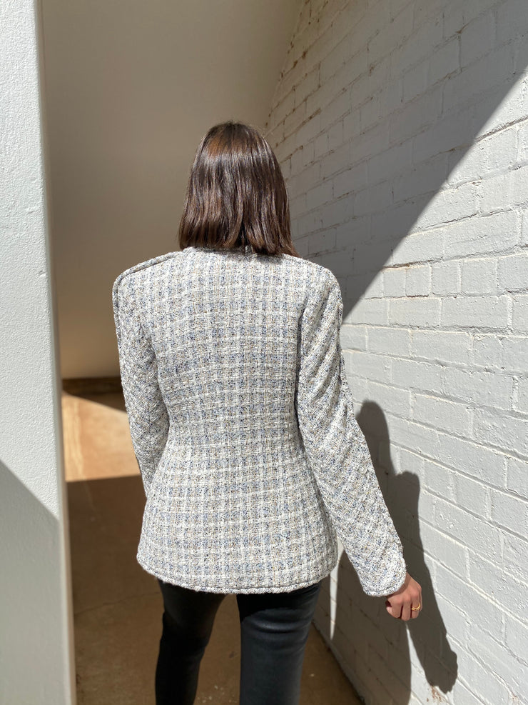 Franca Jacket Ivory with Navy