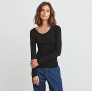 Morri Wool Scoop Neck Black