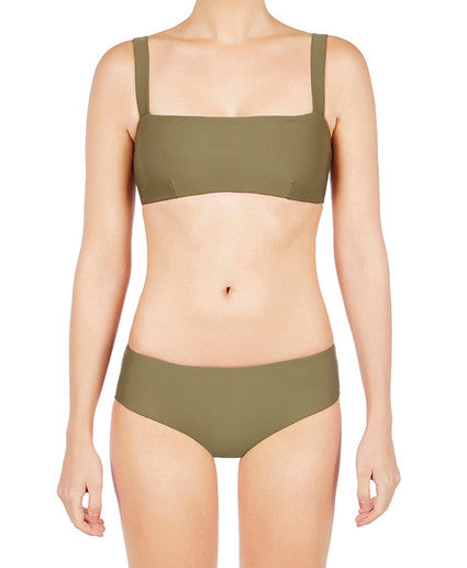 Boy Leg Brief Olive