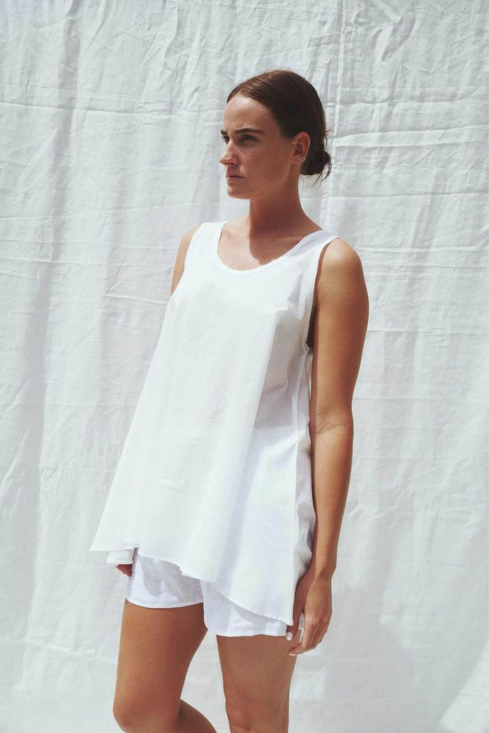 Shelley A-Line Top White